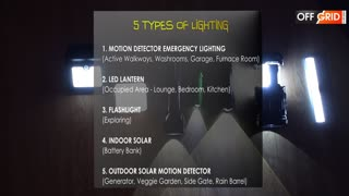 House Lighting for OFF THE GRID