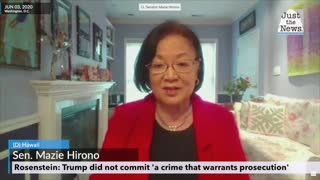 Rosenstein to Sen. Hirono Trump did not commit 'a crime that warrants prosecution'