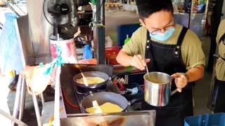 Food | Malaysia Vegetarian Pancake & Burger
