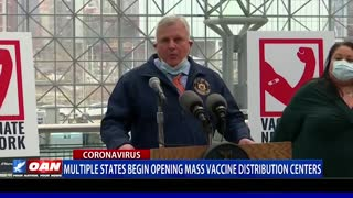 Multiple states begin opening mass vaccine distribution centers
