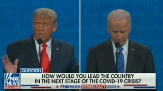DEBATE 2020: President Trump Explains His Coronavirus Response and Over 2 Million Lives Saved