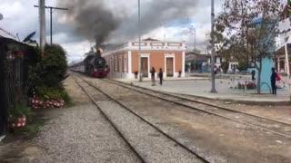 Steam Locomotive going through Cajica Colombia