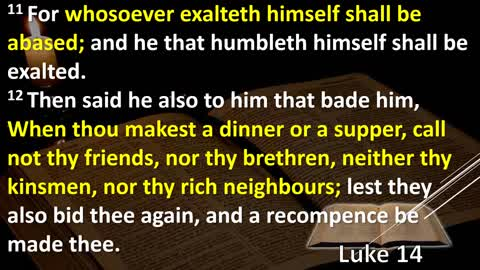 Bible Study Luke Chapter 14 Explained