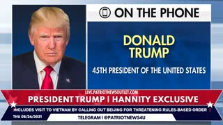 Patriot News Outlet Live | President Trump | Hannity Exclusive | 8/26/2021