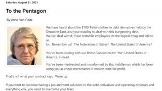 To the Pentagon August 21, 2021 By Anna Von Reitz