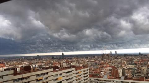 Stunning storm sky in Barcelona
