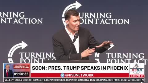AZ Senate Candidate Blake Masters at Trump Rally: We Need to Break Up Google and Punish Twitter
