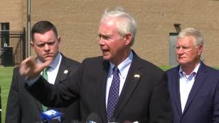 Senator Johnson at Fort McCoy Press Briefing on 8.25