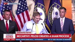 WATCH: Rep Jim Jordan INCINERATES Speaker Pelosi Over Jan 6th Commission Sham