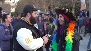 Fleccas Talks Interviews Communists and ANTIFA Protest Milo at CSUF