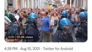 Massive Protest - Milan Italy