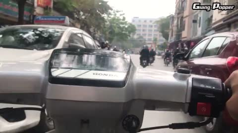 Insane POV footage of rush hour in Vietnam