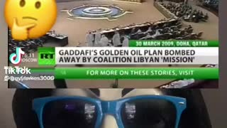 This is why Gaddafi was killed