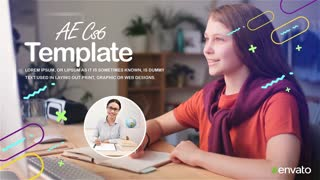 Online Education Slideshow| free after effect template