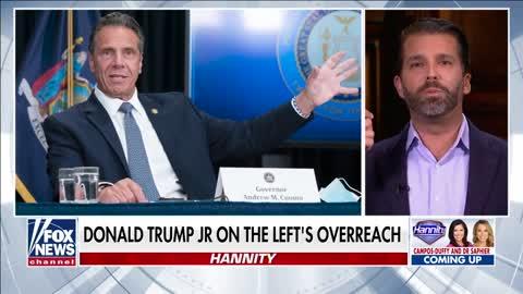 Trump Jr. calls out media 'double standard' between DeSantis, Cuomo