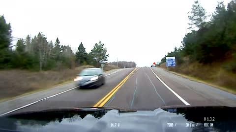 Truck Cam - Dump truck runs red light.