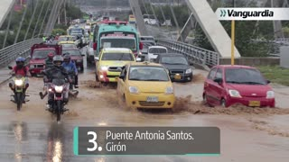Vías que colapsan tras aguaceros en Bucaramanga