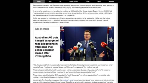 Public Anger After ABC advice to stop using term 'pedophile'