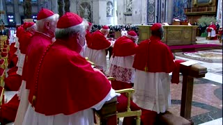 Pope Francis lies prostrate at Good Friday service