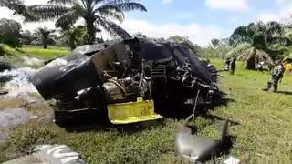 helicoptero cae en sur de Bolívar
