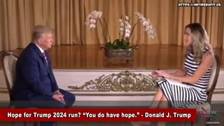 President Trump talks of possible 2024 run.