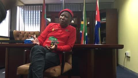 EFF's Julius Malema.