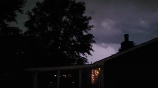 Insane Kansas lightning storm