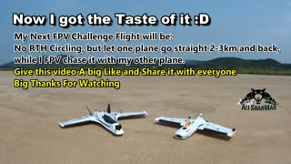 FPV Challenge Flight One Pilot Two FPV Wings FPV Airplane Chase Aerial Video