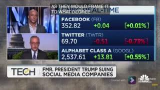Donald trump sues social media