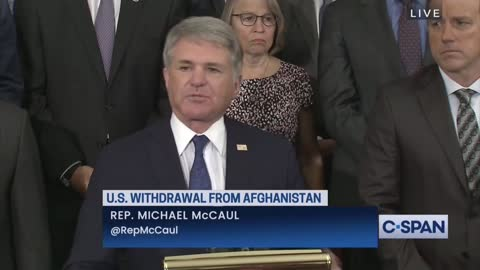 Rep. McCaul On Biden's Withdrawal From Afghanistan: It's Embarrassing