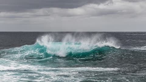 Video of pictures of the ocean
