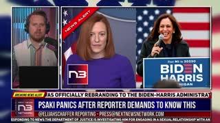 Biden Admin Rebrands To Biden-Harris Admin + Even Jen Psaki Flustered !