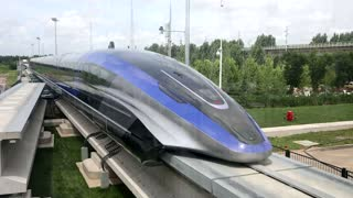 China unveils 372 mph maglev train - state media
