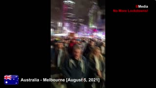 Australia - Melbourne - Lockdown protest [5-8-2021]