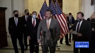 Ted Cruz smacks reporter when harassed for not wearing mask