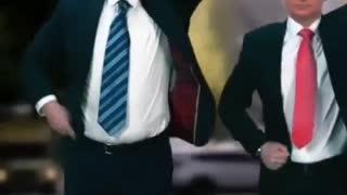 Joe Biden and Vladimir Putin dancing together.