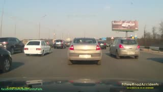 Funny videos on road accidents and people