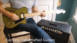KazTone Handcrafted Guitars Swamp Thing demo.