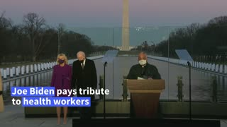 Biden leads Covid memorial on eve of inauguration