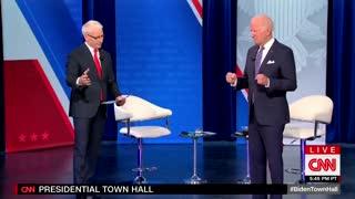 Biden Gets Stuck In AWKWARD Position During CNN Town Hall
