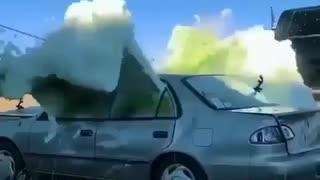 Car explosion A chemical car explosion inside