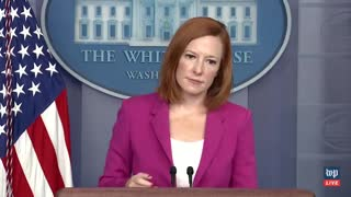 Psaki IGNORES Reporter When Asked About Reparations From China