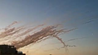 Rockets being fired at Israel