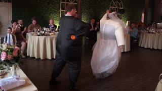Bride and groom receive a surprise