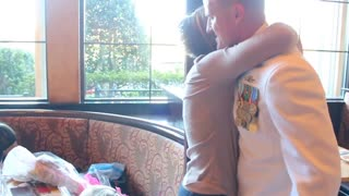 Wife Surprise return of Navy Husband from Afghanistan!