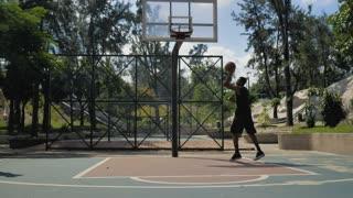 Basketball players Training