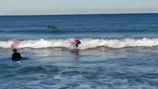 6 year old girl surfing