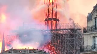 Historic Notre Dame Cathedral Engulfed in Flames