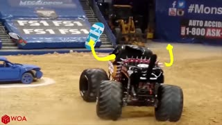 Crazy Monster Truck Freestyle Moment