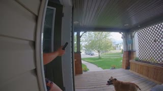 Doorbell Camera Catches Lady Falling